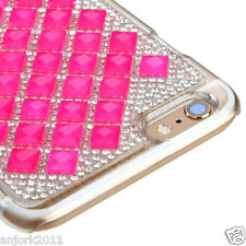"iPhone 6 Plus (5.5"") Snap Fit Back Cover 3D Bling Gem Case Hot Pink Diamond"