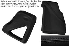 BLACK LEATHER DASHBOARD SIDE TRIM COVERS FITS LAND ROVER DEFENDER 90 110 83-06