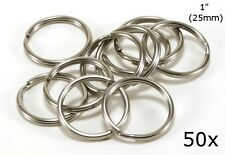 "Stainless Steel Key Rings 1"" (25mm) Split Ring, Wholesale LOT 50"