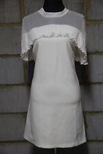 ASOS Women's Pleat Chiffon Ruffle Top Shift Dress UK 12