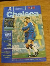 13/03/1994 Chelsea v Wolverhampton Wanderers [FA Cup] (Creased).  When listing w