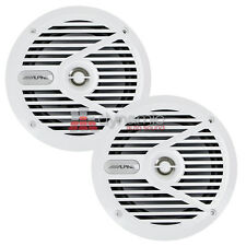 "Alpine SPS-M601W Marine Audio 6-1/2"" 2-Way Coaxial Speakers in White Color New"