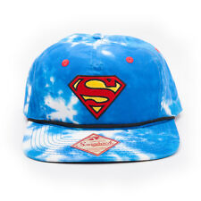 OFFICIA DC COMICS SUPERMAN SYMBOL SKY AND CLOUDS ALL OVER SNAPBACK CAP HAT (NEW)