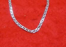 14KT WHITE GOLD EP 16 INCH 5MM MARINER LINK ANCHOR CHAIN NECKLACE