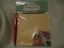 Tea Time Note Pad with Pen and Scripture, Tea Time Theme Pictures, 60 sheets