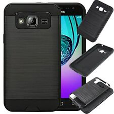 For Samsung Galaxy Express Prime / Amp Prime Brushed Metal Case Skin Phone Cover