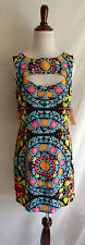 NWT Mara Hoffman 8 Mod Retro Neon Pop Art Geo Print Cut Out Mini Cocktail Dress