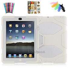 "Hybrid Heavy Duty Shockproof Case Cover Stand For iPad 2/3/4 ""Waterproof"""