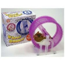 Happy Hamster Pet with  WHEEL RUNNER (Purple Wheel) Battery Operated Kid's Toy