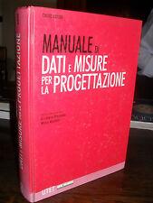 Ingegneria Manuale di dati e misure per la progettazione David Adler UTET 2002
