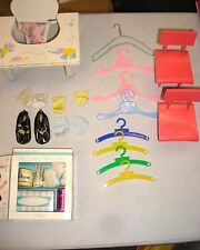 Vintage Doll Lot Accessories High Chair Diaper Closet