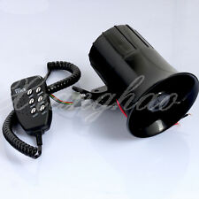 12V Megaphone Loud Air Horn Siren with MIC Speaker 6 Sounds For Car Motorycycle