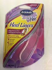 DR. SCHOLL'S FOR HER HEEL LINERS ONE PAIR *FREE SHIPPING*