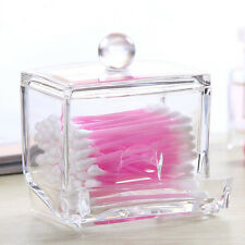 Clear Acrylic Q-tip Makeup Storage Cotton Swab Organizer Box Cosmetic Holder US