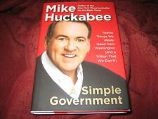 A Simple Government Twelve Things...MIKE HUCKABEE (HD) 1ST PRINTING SIGNED