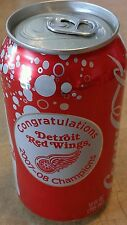 2008 Detroit RED WINGS Stanley Cup Champions COKE CAN full
