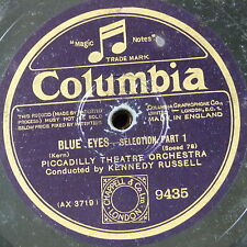 "78rpm 12"" PICCADILLY THEATRE ORCH - KENNEDY RUSSELL blue eyes selection 1&2"