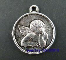 15pcs Tibetan Silver Angell Boy Coin Pendants 23x19x2mm 1569