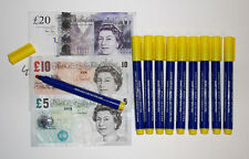 20 x COUNTERFEIT PEN Marker fake money bank note tester detector security pens