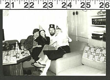 VINTAGE OLD B&W HAPPY NEW YEAR PARTY PHOTO WITH FRIENDS #2735