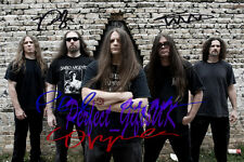CANNIBAL CORPSE BAND SIGNED AUTOGRAPHED 10x8 REPRO PHOTO PRINT