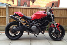 Ducati Monster m696 09 + Demonio Slash De Fibra De Carbono Ronda Xls Escapes