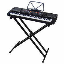 Clavier MK2085 USB LCD 61 Touches E-Piano Keyboard Enseignement + Support Stand