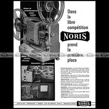 NORIS SYNCHRONER 100 PROJECTEUR 8 MM FILM PROJECTOR 1963 - Pub / Ad #A1455