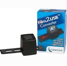 """ClearClick Film To USB Converter 35mm Slide and Negative Scanner with 2.3"""" New"""