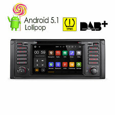 "Android 5.1 Car Stereo DVD Player Quad Core 7"" Touch GPS Radio OBD2 for BMW E39"