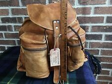 VERY RARE VINTAGE 1970's BASEBALL GLOVE LEATHER BACKPACK RUCKSACK GYM BAG R$1098