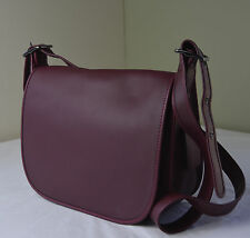 Coach 55298 Burgundy Red Glove Tanned Leather Saddle Crossbody Bag