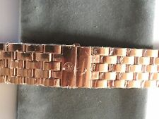 MICHELE URBAN + DECO XL ROSE GOLD PLT 20MM WATCH BRACELET - $700 DISCONTINUED