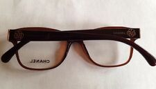 CHANEL Rx Eyeglasses Frames 3265 52 16 140 Brown And Gold Flowers