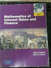 Mathematics of Interest Rates and Finance Paperback Guthrie, Gary C.; Lemon, Lar