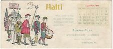 1896 Pittsburg Wholesale Lumber Dealer Blotter -With Boys Military Parade
