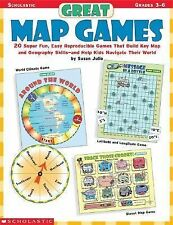 Great Map Games: 20 Super Fun, Easy Reproducible Games That Build Key Map and Ge