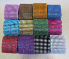 6cm Multi Colors Bling Diamante Diamond Rhinestone Mesh Ribbon Crystal Wrap