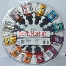 Dr Ph Martin's Bombay Conjunto de tinta de la India 12 X 1oz Color Set 2, nuevo