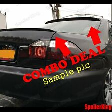 COMBO Spoilers (Fits: Hyundai Elantra 2001-05 4dr) Rear Roof Wing & Trunk Lip