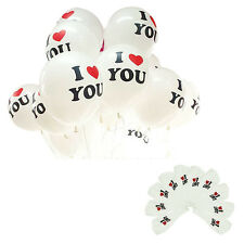 10pcs Pearl Latex Balloon I LOVE YOU Balloons Christmas Wedding Decorations ZR6