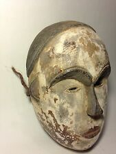 AUTHENTIC AFRICAN ART HAND CARVED IDOMA GABON WOODEN MASK / STATUE