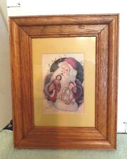 Christmas Santa, Artwork Framed, 1987, Colony Collectibles, by N.Schneeman