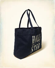 NWT HOLLISTER So Cal Logo Graphic TOTE BOOK SCHOOL BAG Blue