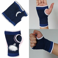 Pair Wrist Hand Brace Elastic Palm Support Carpal Tunnel Tendonitis Pain Relief)