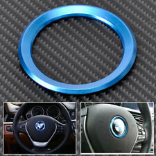 1Pc Blue Ring Magnesium Alloy Car Steering Wheel Center Decorations Ring For BMW