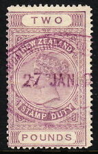 NEW ZEALAND — SCOTT AR19 — £2 POSTAL FISCAL — PERF 12¾ — USED