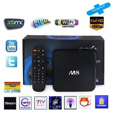 Latest M8 Quad Core Android 4.4 TV Box Smart Mini PC XBMC Fully Loaded Wifi 5G