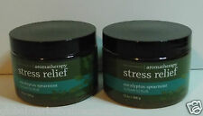 2 Bath & Body works Aromatherapy Stress Relief Eucalyptus Spearmint Body Scrub