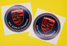 PORSCHE 1976 'Martini' WORLD CHAMPION inside glass stickers PAIR 911 944 968